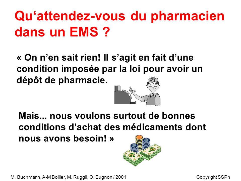 Qu'attendez-vous du pharmacien dans un EMS . « On n'en sait rien.