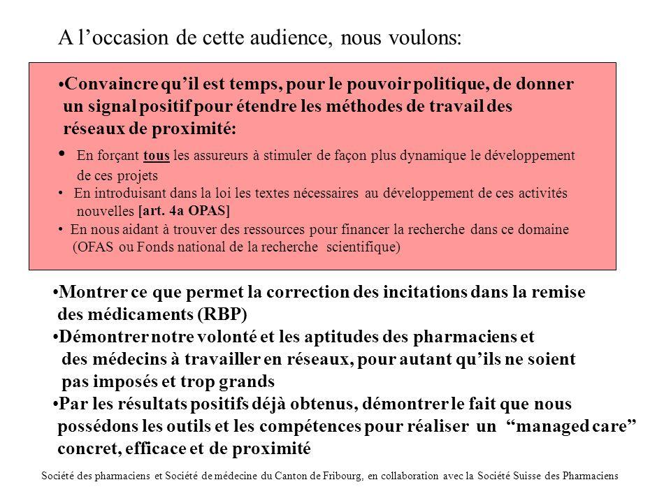 Le montant des fonds dans le pot commun,ristournés sur la base des rapports d'assistance pharmaceutique, est un indicateur de l'adéquationdusystème aux besoinsdes EMS: Si le contenu est trophaut: baisse duforfait possible Si le contenu est trop bas: hausse duforfait à négocier Propositions des pharmaciens, acceptées par SantéSuisse et base du contrat de partenariat AFIPA-SantéSuisse Evolution des coûts des médicaments/patient dans les EMS fribourgeois sous l'influence du travail en réseau des médecins, pharmaciens et infirmières, dans le cadre d'un forfait fixé avec les assureurs Dr Michel Buchmann, pharmacien 11.2003