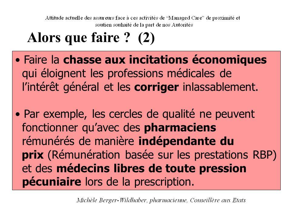Alors que faire ? (2) Faire la chasse aux incitations économiques qui éloignent les professions médicales de l'intérêt général et les corriger inlassa