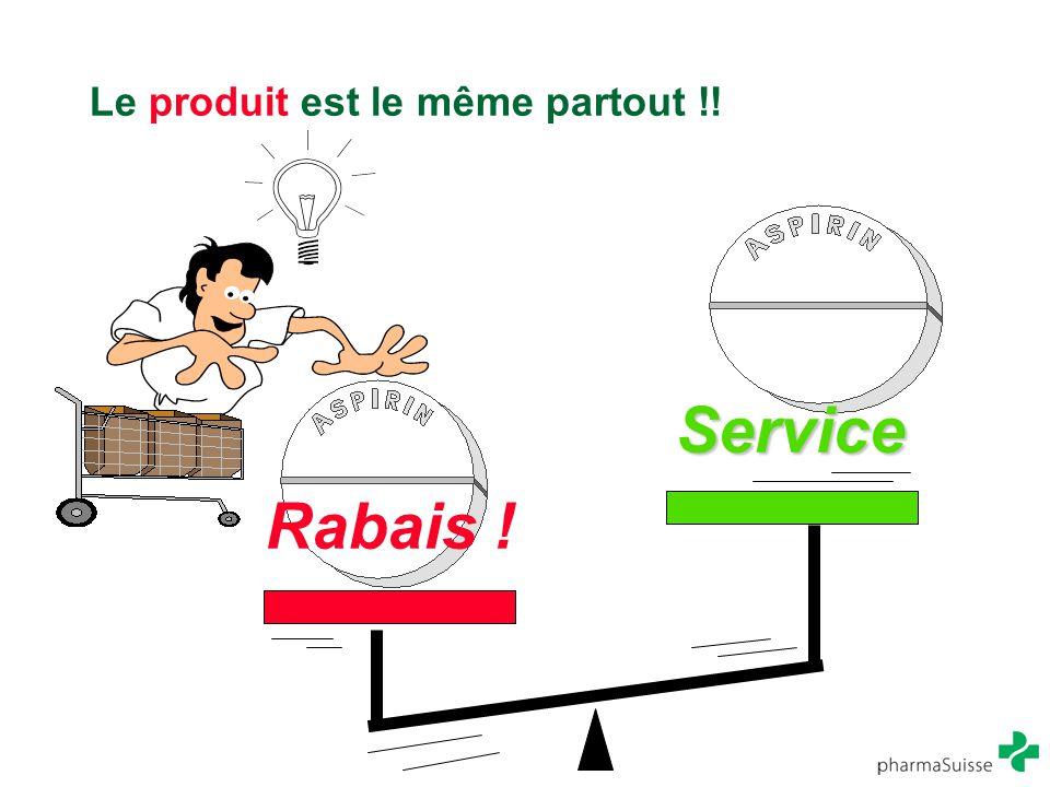 Le produit est le même partout !! Rabais ! Service