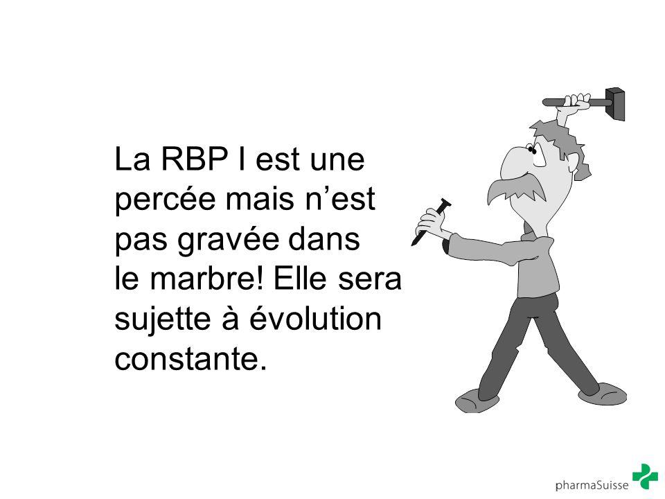 La RBP I est une percée mais n'est pas gravée dans le marbre! Elle sera sujette à évolution constante.