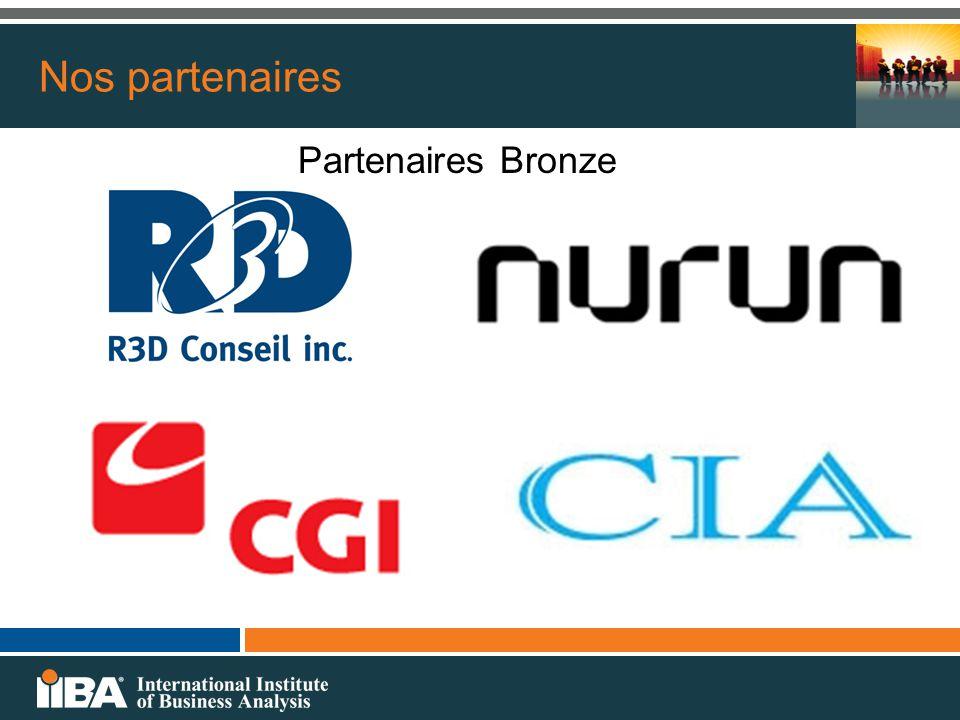 Nos partenaires Partenaires Bronze