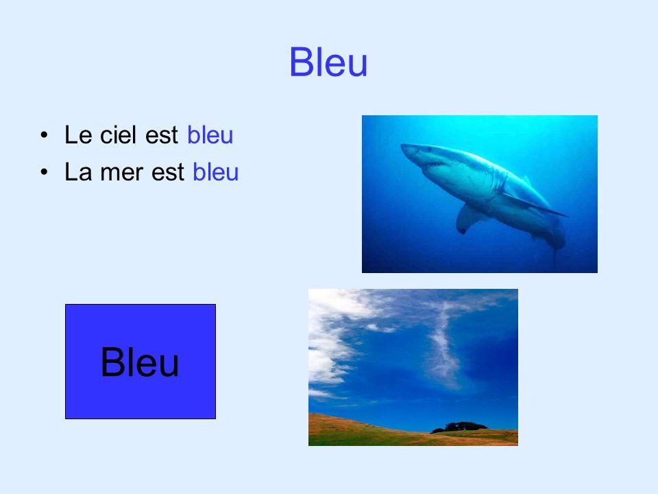 Bleu Le ciel est bleu La mer est bleu Bleu