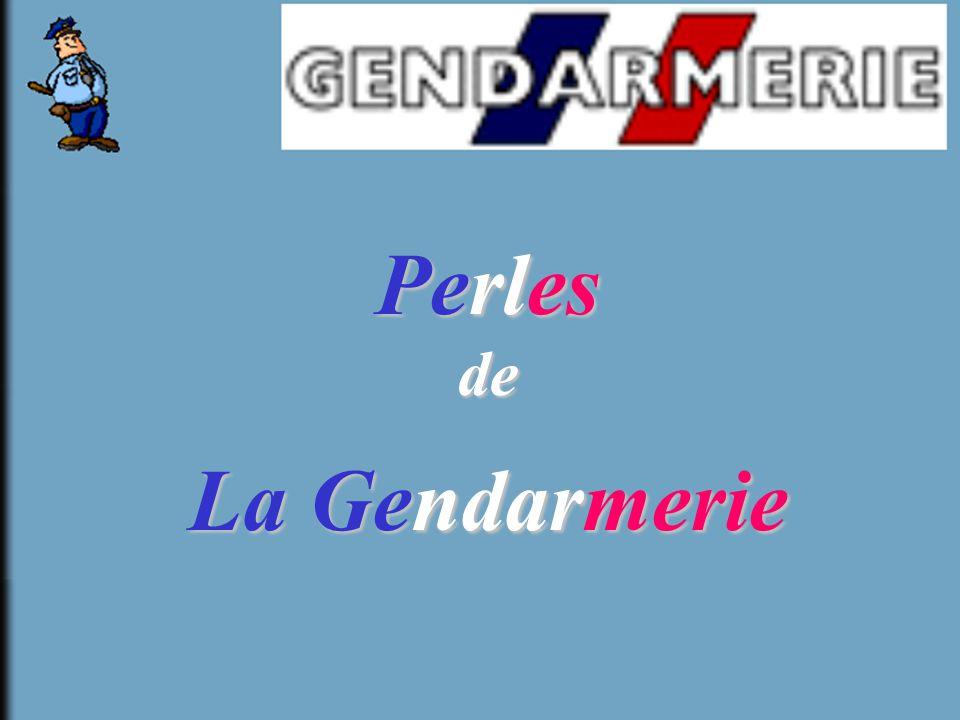 Perles de La Gendarmerie