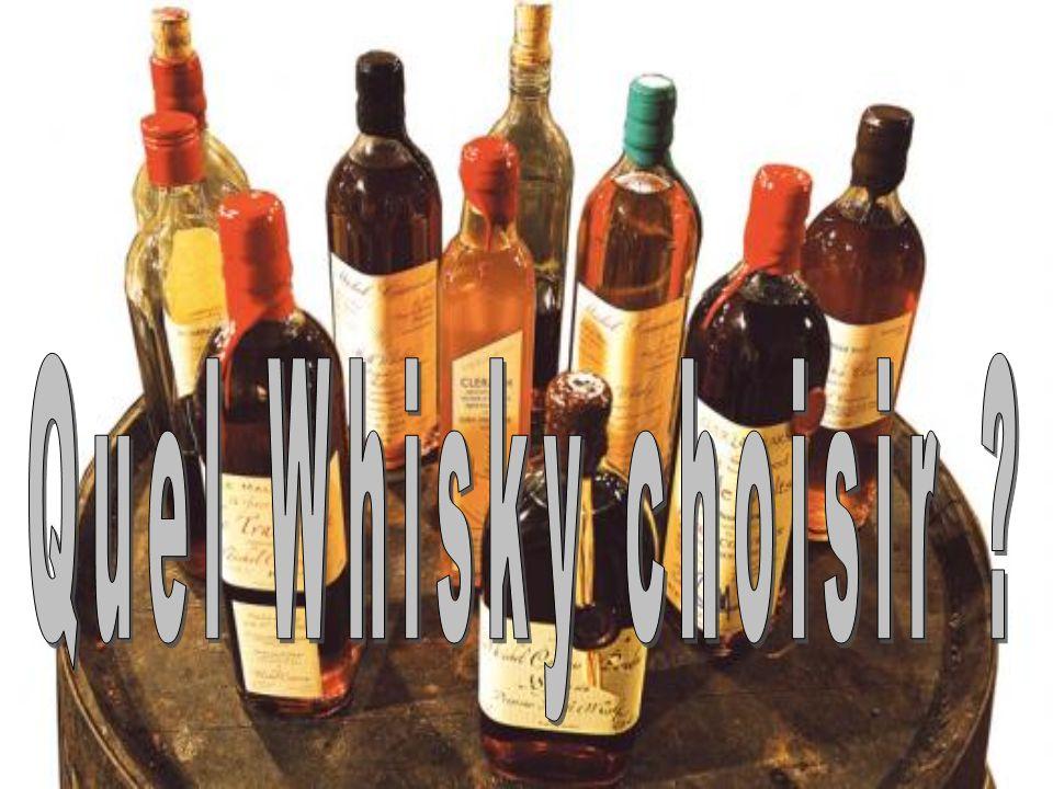 Les trois familles du Whisky Blend : compos é de diff é rents whisky (parfois plus de 40) d ' origines diff é rentes.