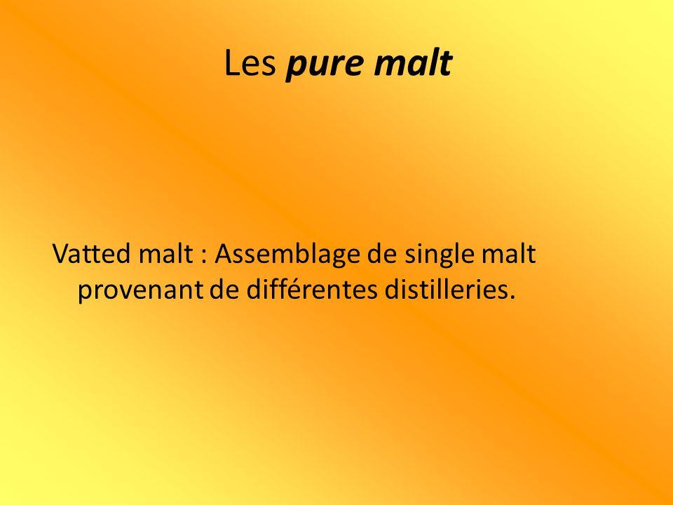 ++ = SINGLE MALT ++ = SINGLE MALT + = VATTED MALT Les pure malt