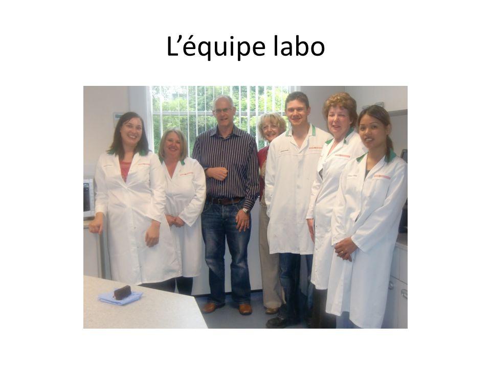 L'équipe labo