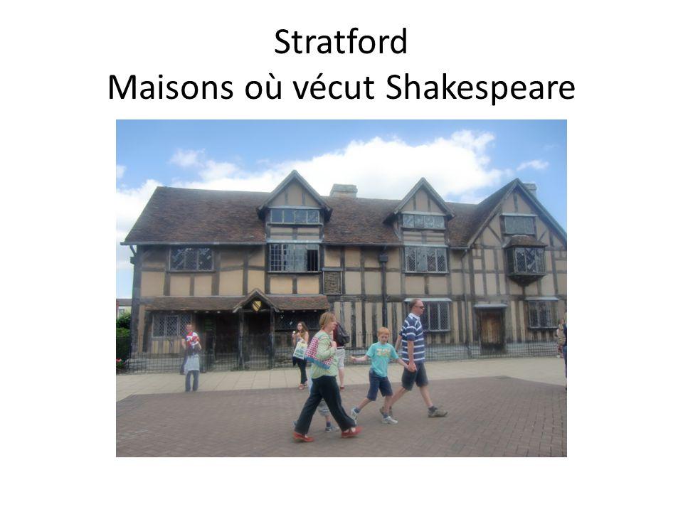 Stratford Maisons où vécut Shakespeare