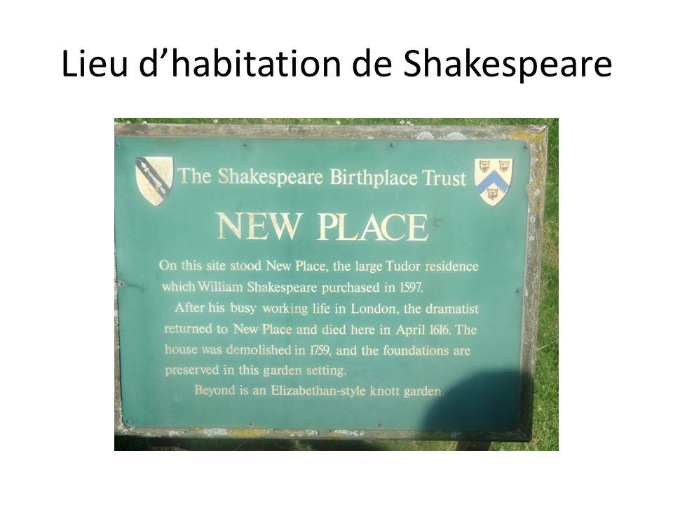 Lieu d'habitation de Shakespeare