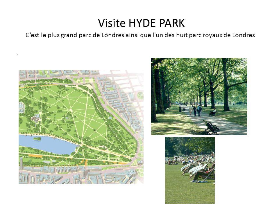 Visite HYDE PARK C'est le plus grand parc de Londres ainsi que l un des huit parc royaux de Londres.