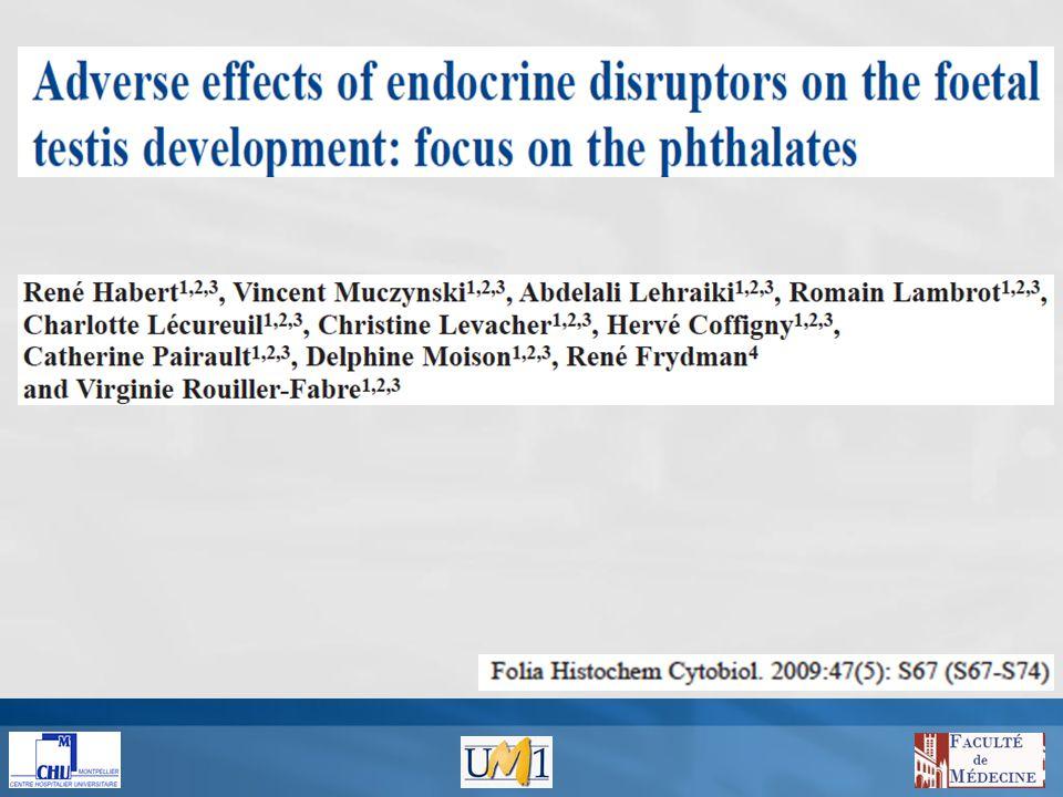 Tabac, alcool Medicaments Phthalates Bisphenol A Pesticides