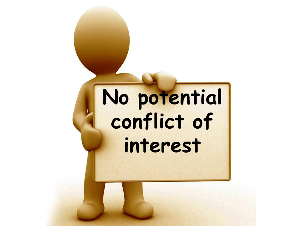 No potential conflict of interest