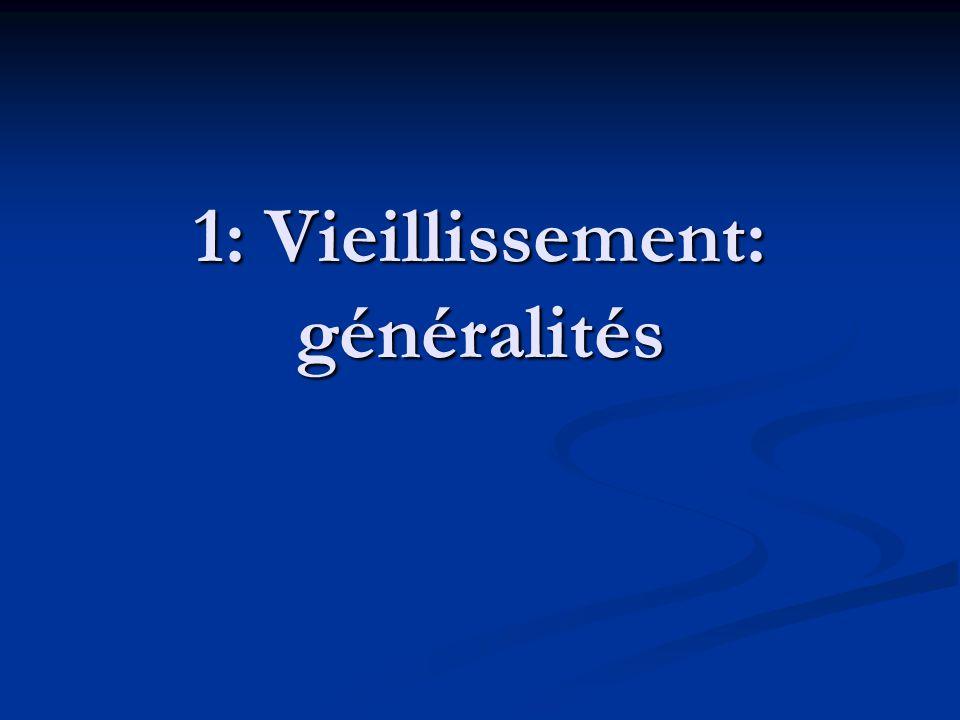 1: Vieillissement: généralités