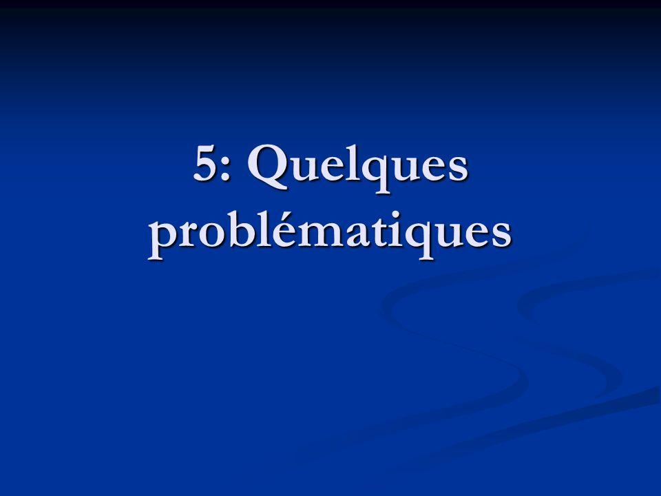 5: Quelques problématiques