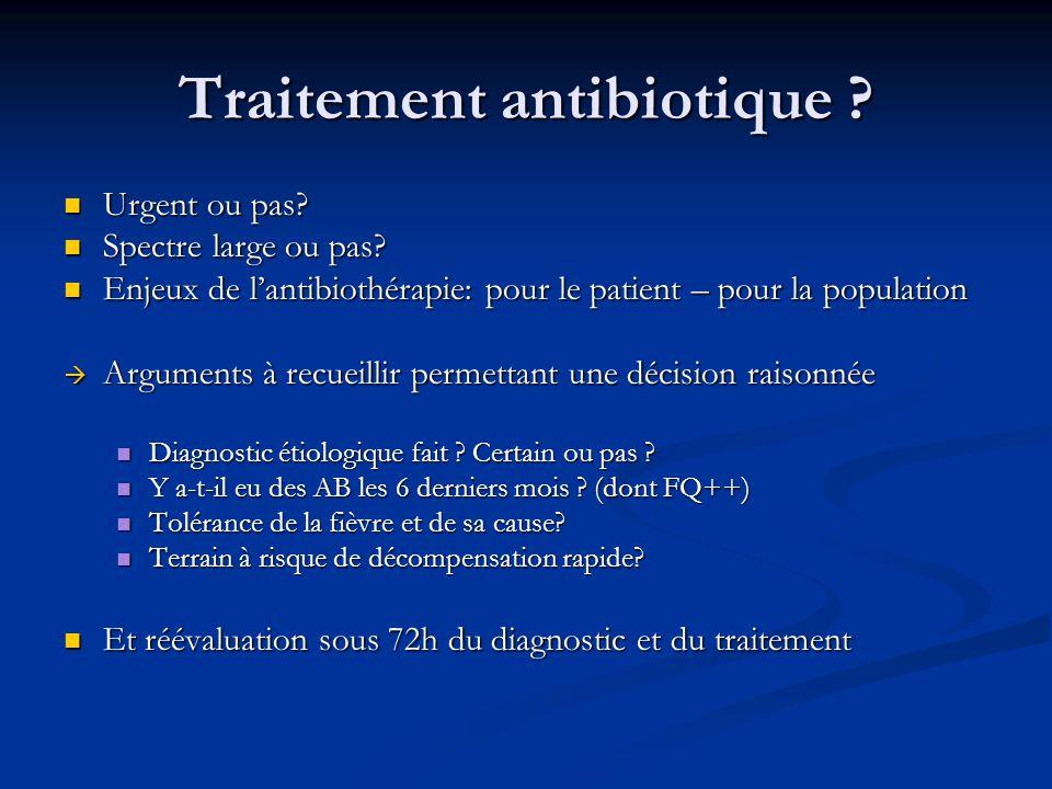 Traitement antibiotique .Urgent ou pas. Urgent ou pas.