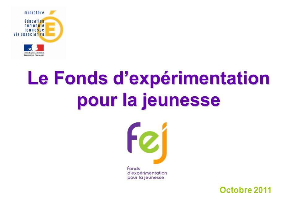 Le Fonds d'expérimentation pour la jeunesse Octobre 2011