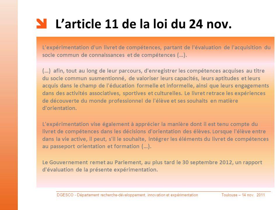 L'article 11 de la loi du 24 nov.