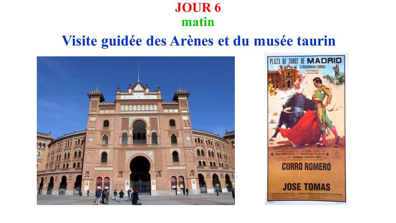 JOUR 6 matin Visite guidée des Arènes et du musée taurin