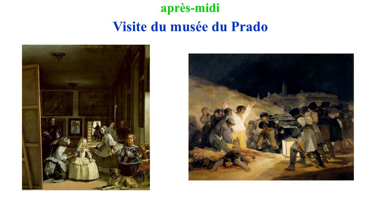 après-midi Visite du musée du Prado