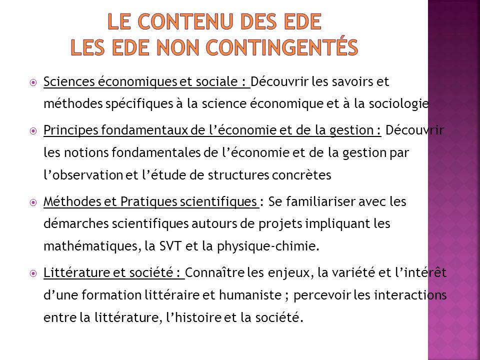  Sciences économiques et sociale : Découvrir les savoirs et méthodes spécifiques à la science économique et à la sociologie  Principes fondamentaux