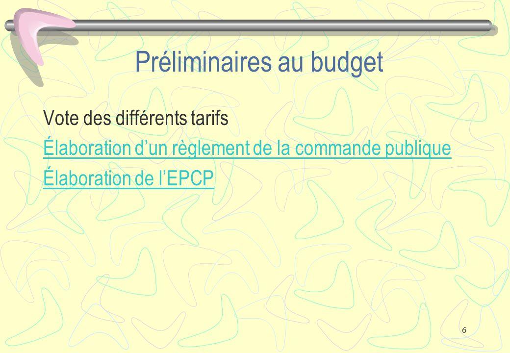 7 Structure du budget