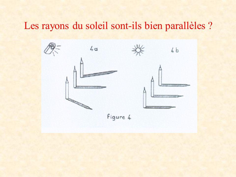 Les rayons du soleil sont-ils bien parallèles ?