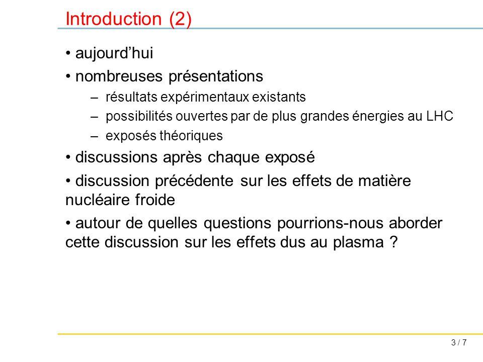 4 / 7 Questions idée simple, modèles trop simplistes .