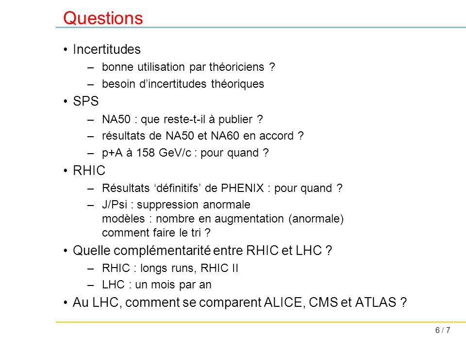 7 / 7 Questions Complémentarité avec autres sondes du plasma .