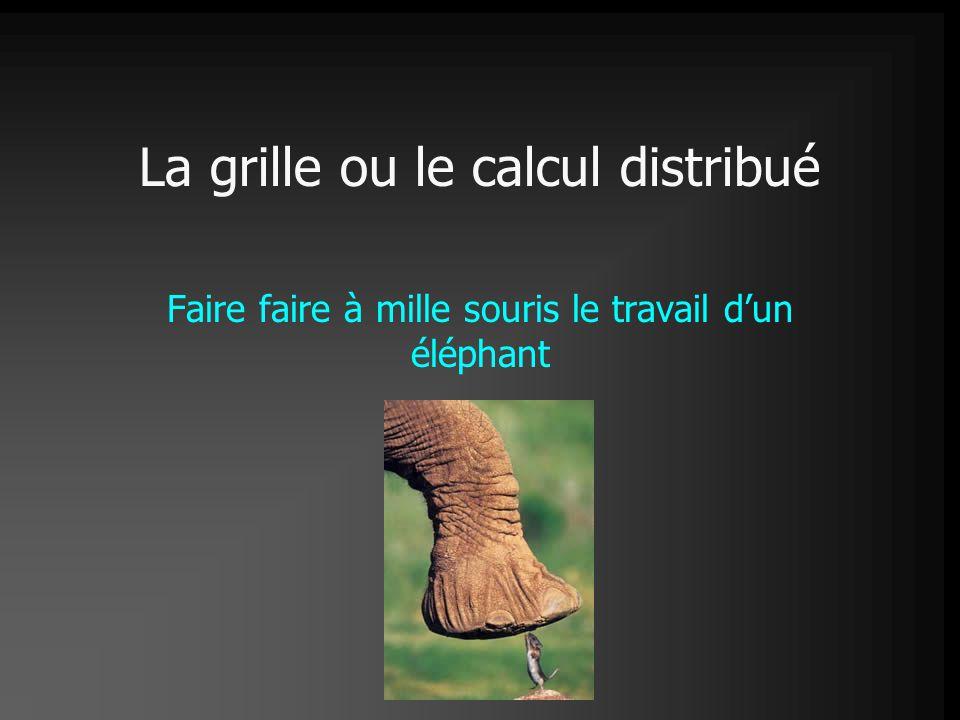 La grille ou le calcul distribué Faire faire à mille souris le travail d'un éléphant