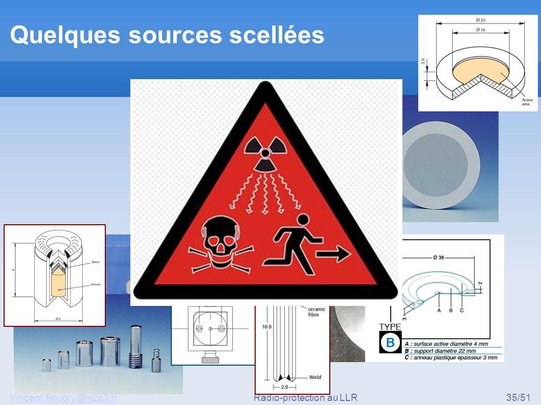 Vincent.Boudry@in2p3.frRadio-protection au LLR35/51 Quelques sources scellées