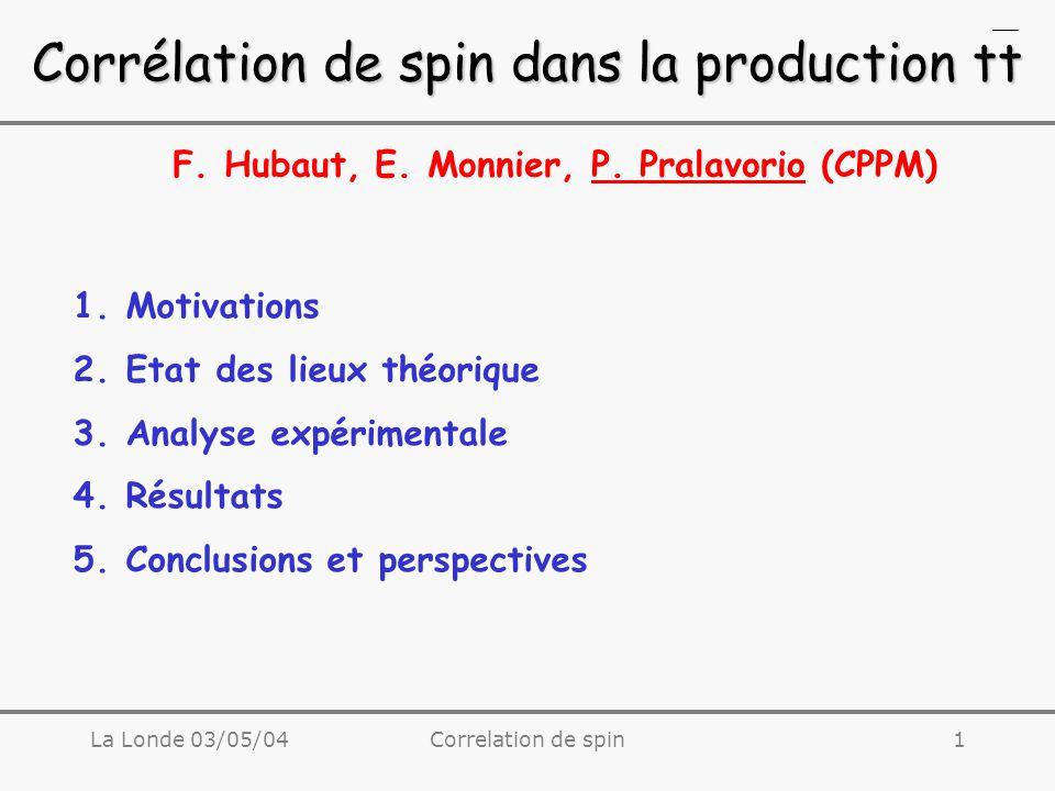 La Londe 03/05/04Correlation de spin2 1.