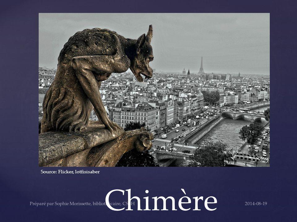 Chimère Source: Flicker, lotfisisaber 2014-08-19Préparé par Sophie Morissette, bibliothécaire, CSSH