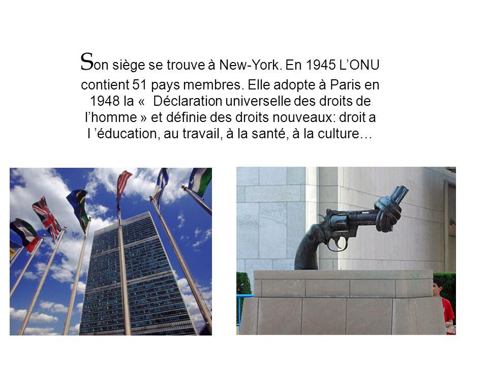 La création de l'ONU suite à la seconde guerre mondiale suite à la seconde guerre mondiale Première guerre mondiale, création de la S.D.N. Seconde gue