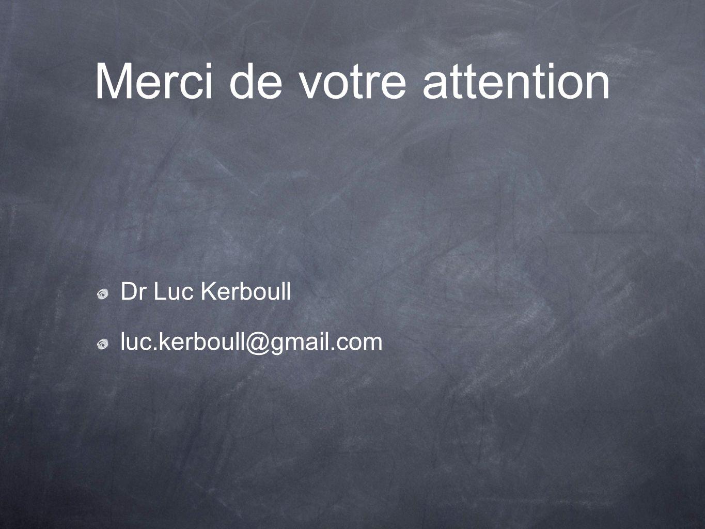 Merci de votre attention Dr Luc Kerboull luc.kerboull@gmail.com