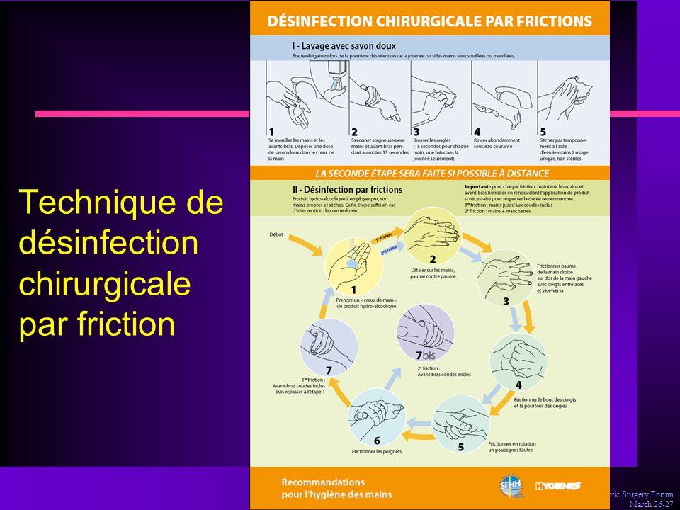 Dr Olivia Keita-Perse, Aseptic Surgery Forum March 26-27 Technique de désinfection chirurgicale par friction
