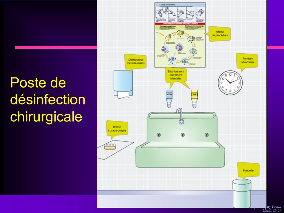 Dr Olivia Keita-Perse, Aseptic Surgery Forum March 26-27 Poste de désinfection chirurgicale