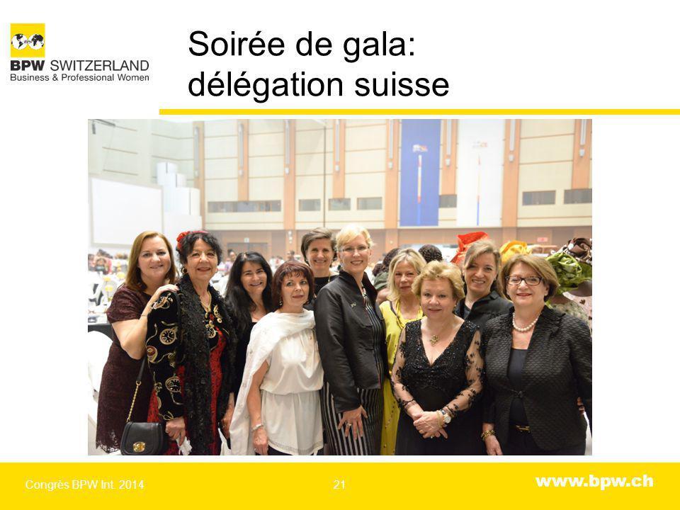 www.bpw.ch Soirée de gala: délégation suisse Congrès BPW Int. 201421