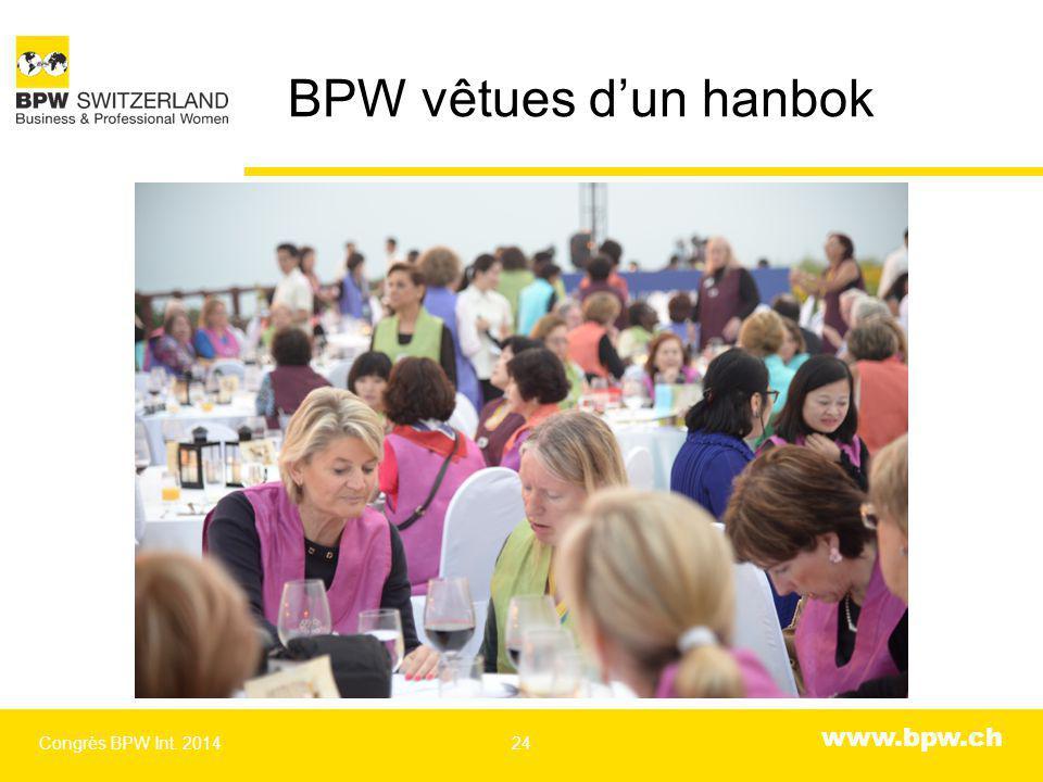 www.bpw.ch BPW vêtues d'un hanbok Congrès BPW Int. 201424