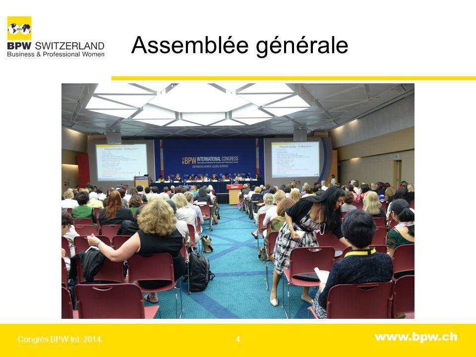 www.bpw.ch Assemblée générale Congrès BPW Int. 20144