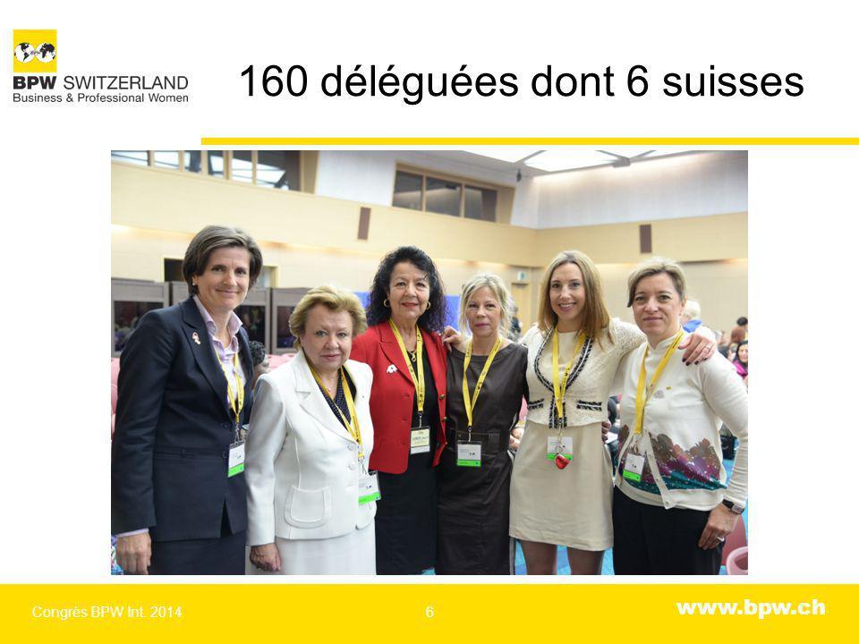 www.bpw.ch Les déléguées suppléantes suisses Congrès BPW Int. 20147