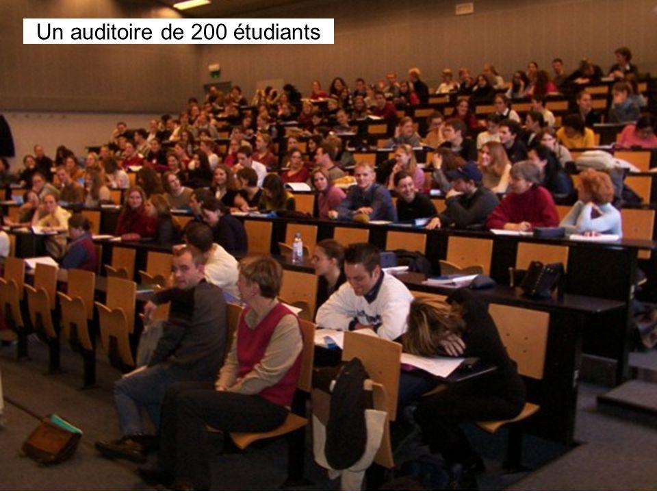 Leclercq, Micro PARMs MFPA, STE ULG, 2002 14 Un auditoire de 200 étudiants