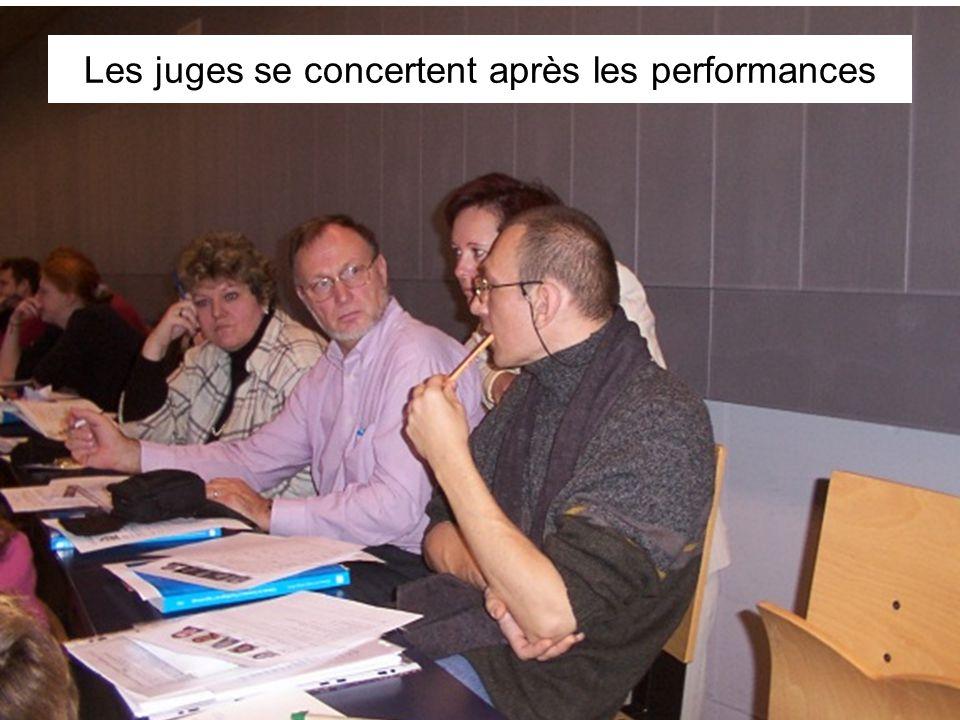 Leclercq, Micro PARMs MFPA, STE ULG, 2002 29 Les juges se concertent après les performances