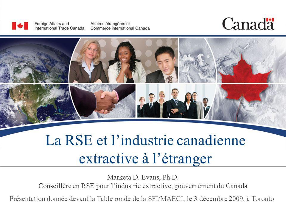 12/14 Établir une position de chef de file pour l'industrie canadienne extractive dans le monde