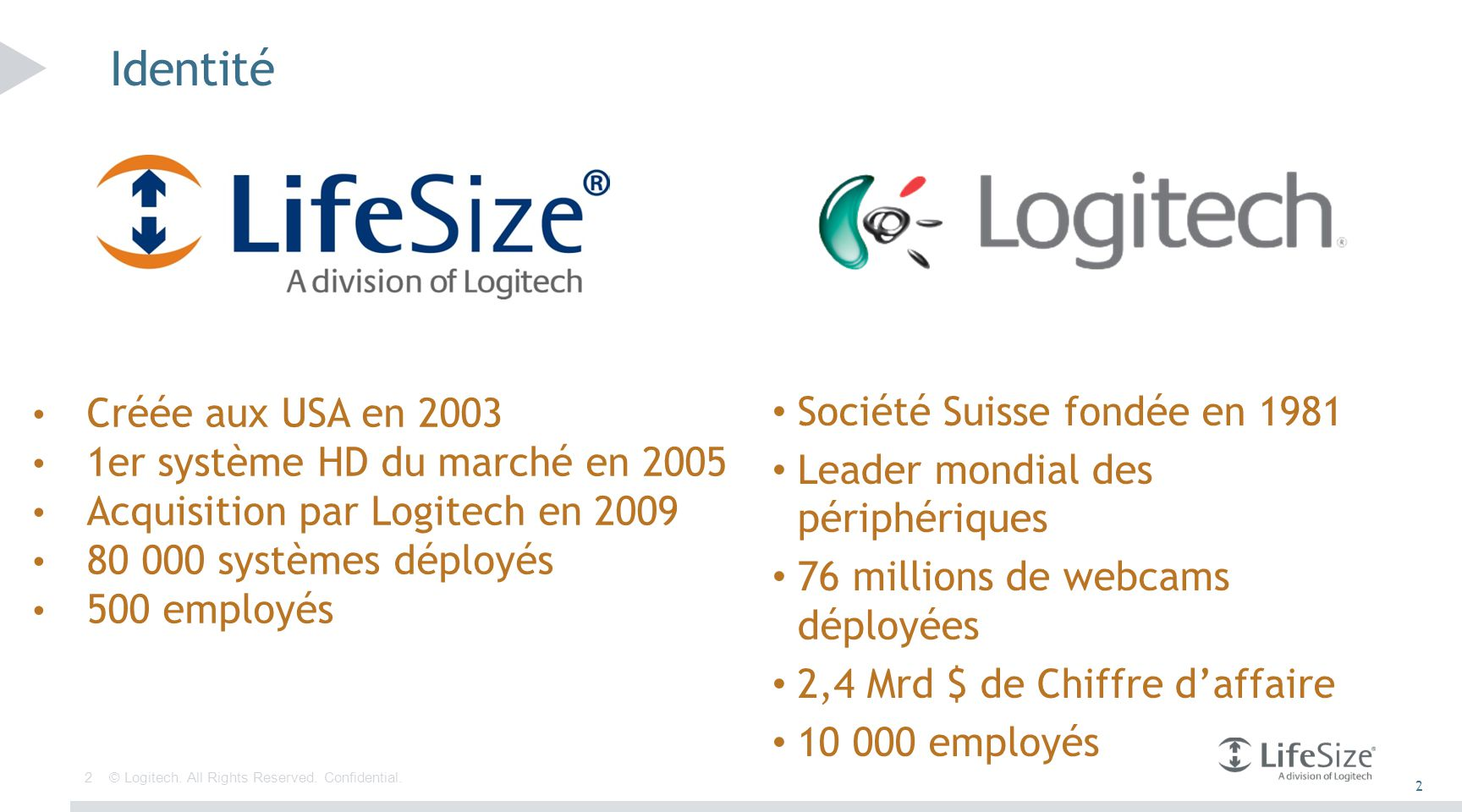 23 © Logitech. All Rights Reserved. Confidential. Pré-requis serveur UVC