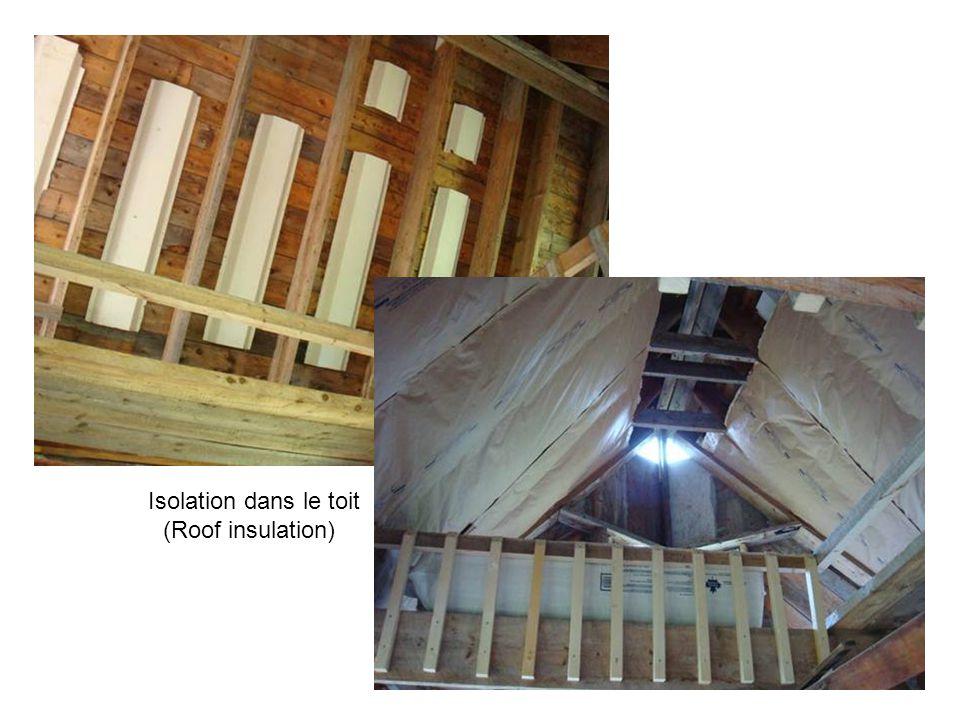 Isolation dans le toit (Roof insulation)