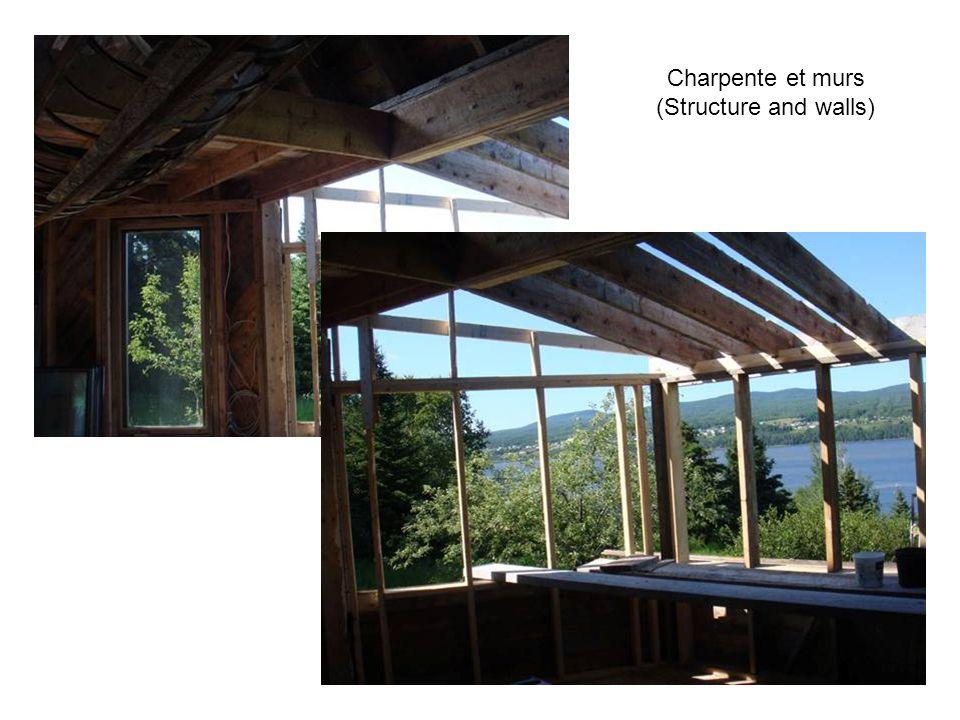 Charpente pour recevoir les fenêtres (Window framing ready)