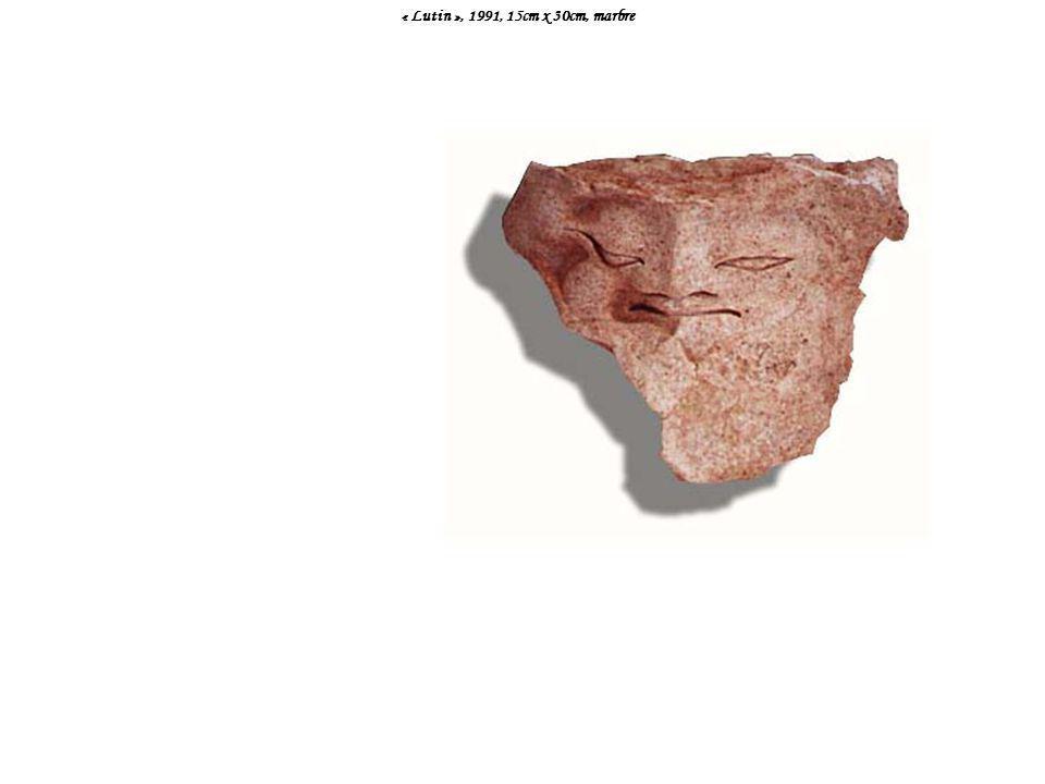 « Lutin », 1991, 15cm x 30cm, marbre