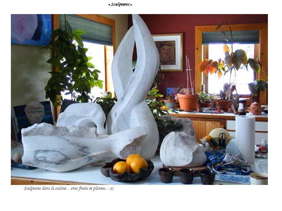 « Sculptures » Sculptures dans la cuisine... avec fruits et plantes... ;o)