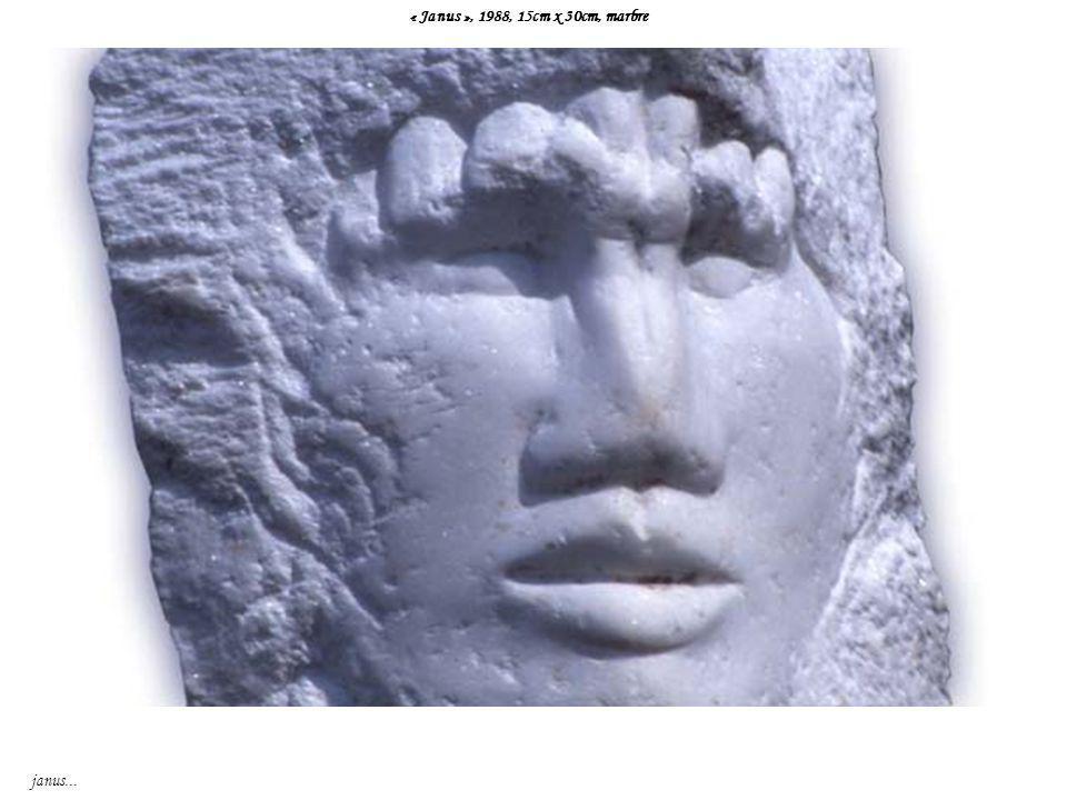« Janus », 1988, 15cm x 30cm, marbre janus...