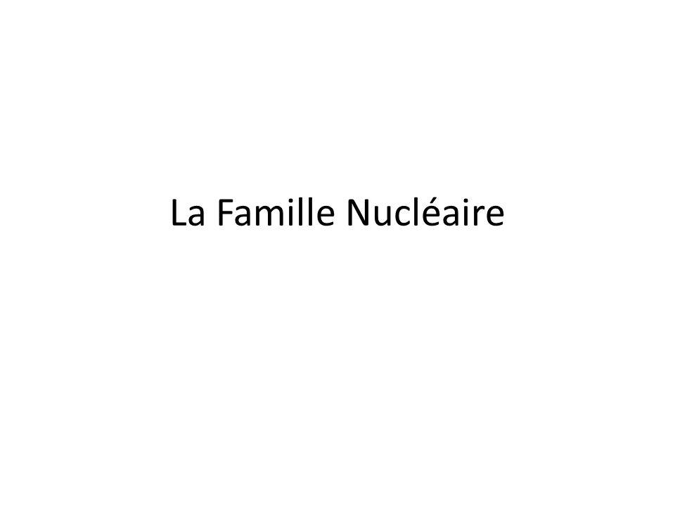 Questions pour Discussion Qu'est ce que un famille nucléaire dans les Etats Unis.